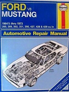 Haynes for Ford mustang 1964 1/2 to 1973