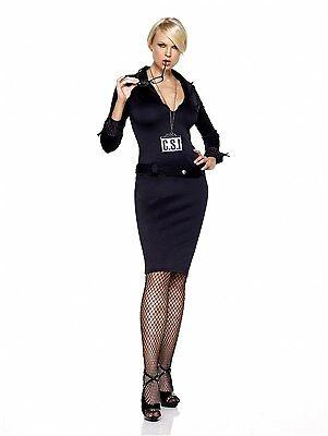Leg Avenue Costume C.S.I. 83148 Black Small/Medium