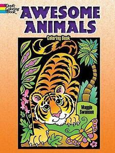 New, Awesome Animals Coloring Book (Dover Coloring Books), Swanson, Maggie, Book