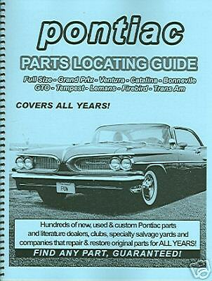 64 65 66 67 69 70 71  PONTIAC GTO PARTS LOCATING GUIDE Parts Locating Guide