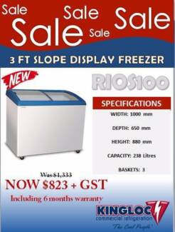 3 Ft Slope Display Freezer