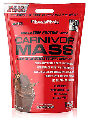 Carnivor Mass - 10 Lbs Beef Protein Muscle Gainer, Chocolate