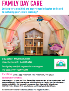 Child Care - Family Day Care Mitcham Whitehorse Area Preview