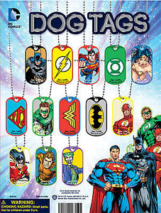 12 Super Hero Dog Tags