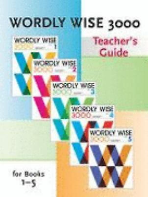 Wordly Wise 3000 : Teachers Guide for Books 1-5 by Kenneth Hodkinson