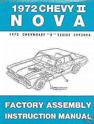 1972 CHEVROLET FACTORY ASSEMBLY MANUAL   CHEVY II NOVA