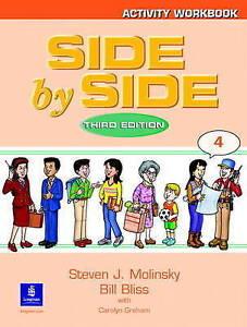 NEW Side by Side 4 Activity Workbook 4 by Steven J. Molinsky Paperback Book (Eng