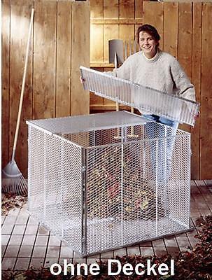 BRISTA Metall Komposter Kompostsilo 100x100x80cm  o. Deckel verzinkt 800 Liter