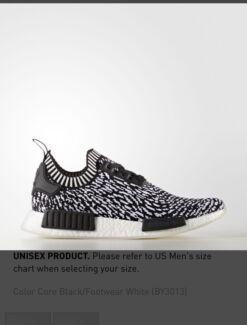 Adidas NMD R1 PK SASHIKO (zebra) BLACK/WHITE size US9