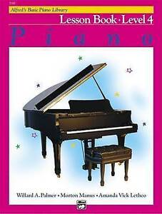 Alfred's Basic Piano Library Lesson Book, Bk 4 by Willard A Palmer...