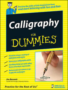 Calligraphy-For-Dummies-Bennett-Jim-Used-Good-Book