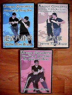 Tom Bisio BaGua Zhang Ba Gua Concepts 3 DVD set Tai Chi Chuan Xing Yi Kung Fu