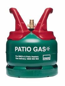 patio gas bottle almost full