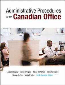 Administrative Procedures for the Canadian Office Ninth Canadian 9th Edition