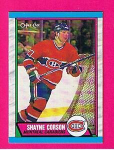 1989-90 O-Pee-Chee .... HABS team set .... (15 hockey cards)