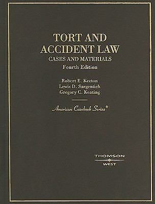 Tort & Accident Law, Cases & Materials: Tort and Personal Injury (American 1