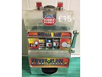REDUCED!! £15 but is £20 on Ebay. 1997 American Dubble Bubble working machine and money box