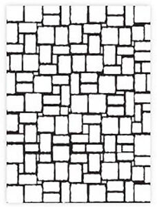 Darice A2 BRICK WALL embossing folder - $8