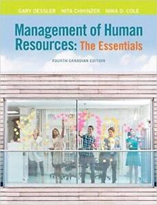 Management of Human Resources The Essentials, 4th Canadian Edition