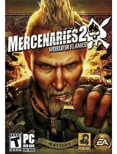 Mercenaries 2 World In Flames PC DVD Rom-new and sealed +