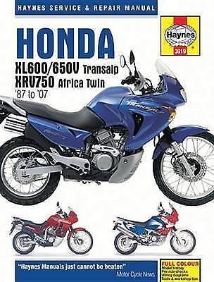 Haynes Manual Honda XL600 1987-2007 XL650V XRV750 Africa Transalp