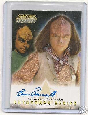 Star Trek Tng Profile A17 Brian Bonsall Auto Card