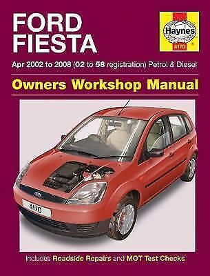 Ford Fiesta Haynes Manual 2002-08 1.25 1.3 1.4 1.6 Petrol 1.4 1.6 Dsl Workshop