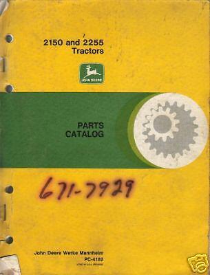 John Deere 2150 2255 Tractors Parts Manual Book Catalog Factory Original