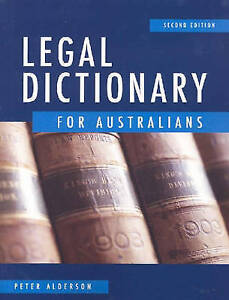 Legal-Dictionary-for-Australians-Second-Edition-by-Peter-Alderson