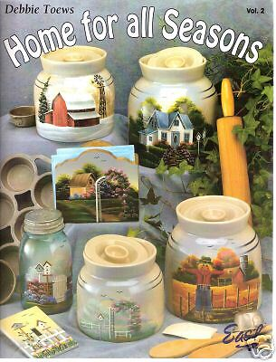"""DEBBIE TOEWS: """"HOME FOR ALL SEASONS 2"""" PAINT BOOK -NEW!"""