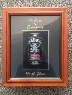 Framed Jack Daniels can