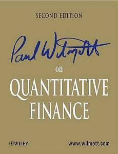 Paul Wilmott on Quantitative Finance, Paul Wilmott