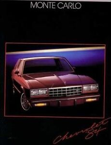 1984 chevrolet monte carlo new car sales brochure Kitchener / Waterloo Kitchener Area image 1