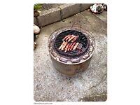 Burn bin fire pit bbq washer drum incinerator patio heater.
