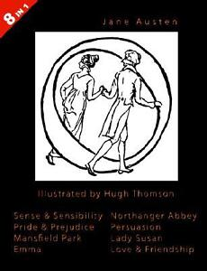 Illustrated Jane Austen 8 Books in 1. Illustrated by Hugh Thomson. Sense & S...