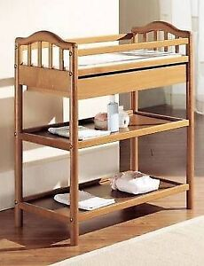 PALI Italy Solid Maple sleigh crib with drawer and change table