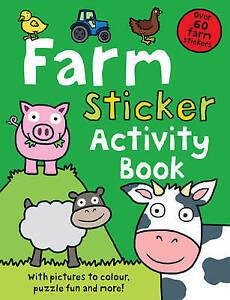 Farm Sticker Activity Book (Preschool Sticker Activity Books), Good Condition Bo