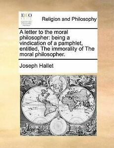 A Letter Moral Philosopher Being Vindication Pamph by Hallet Joseph Jr