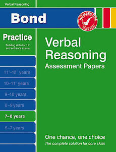 Bond First Papers in Verbal Reasoning 7-8 years (Bond Assessment Papers), Andrew
