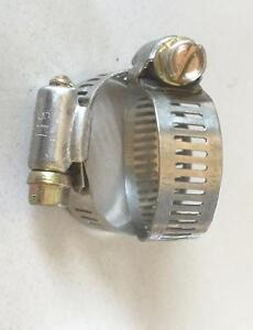 """Gear Hose Clamps, #16, for 3/4""""  or 1"""" hose, 100 pcs"""