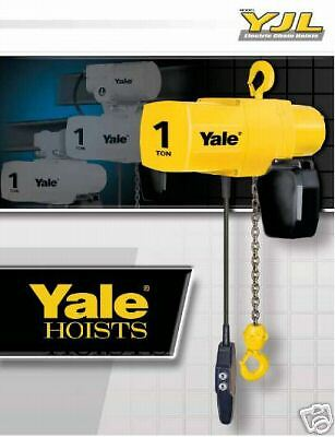 Yale Yjl 12 Ton Electric Chain Hoist 15 Ft Lift Single Or Three Phase New