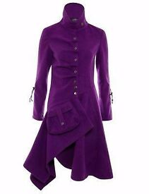 Purple gothic coat JUMPO from Camden