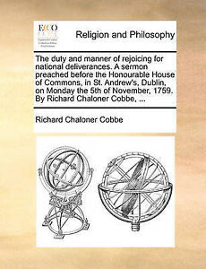 The Duty Manner Rejoicing for National Deliverances Ser by Cobbe Richard Chalone