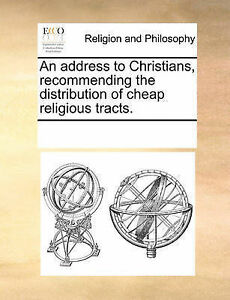 An Address Christians Recommending Distribution Cheap  by Multiple Contributors