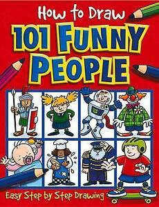 How to Draw 101 Funny People by Green, Dan -Paperback