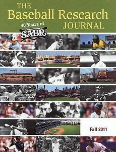 Baseball Research Journal (Brj) Vol  40 #2 by Society for American Baseball Rese