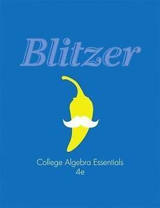 Blitzer college algebra books ebay college algebra essentials blitzer fandeluxe Choice Image