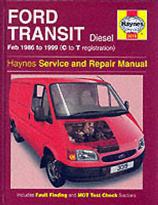 New Haynes Repair Manual Ford Transit Diesel (Feb 86 - 99) C to T