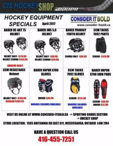 Hockey Equipment Specials - Great Deals on New Equipment For July