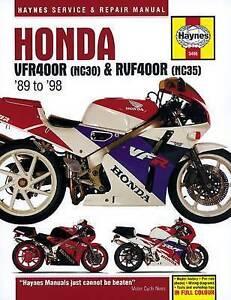 New Haynes Repair Manual Honda VFR400 (NC30) & RVF400 (NC35) V-Fours 1989 - 1998